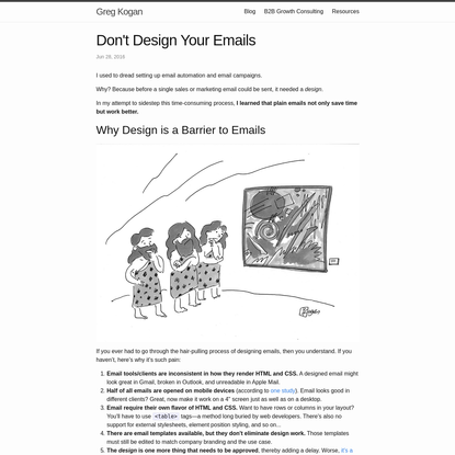 Don't Design Your Emails
