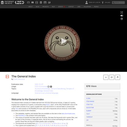 The General Index : Public Resource : Free Download, Borrow, and Streaming : Internet Archive
