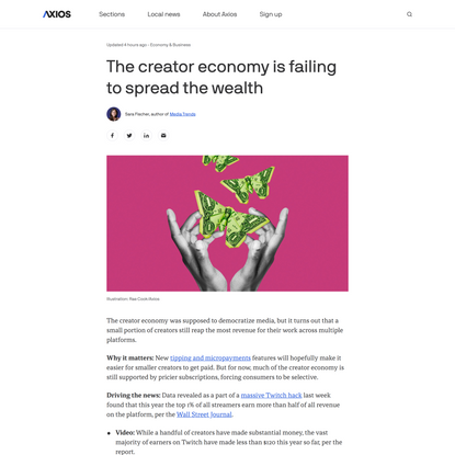 The creator economy is failing to spread the wealth