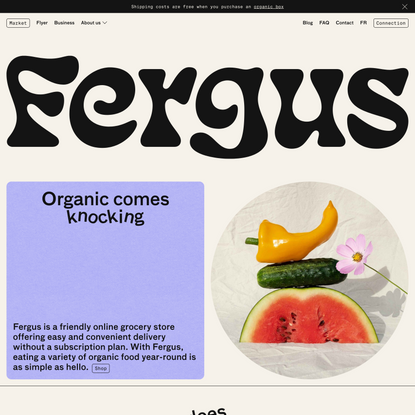 Fergus - Friendly Online Grocery store – Organic Market