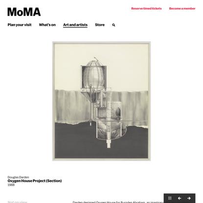Douglas Darden. Oxygen House Project (Section). 1988 | MoMA