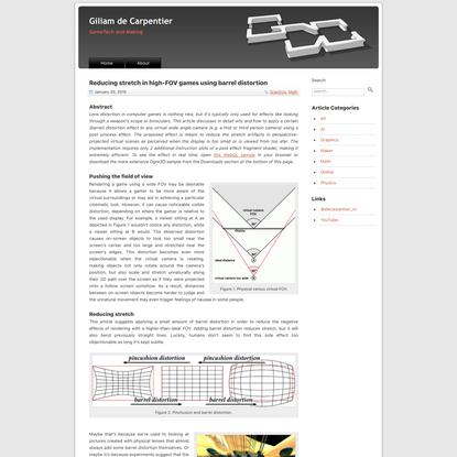 Reducing stretch in high-FOV games using barrel distortion