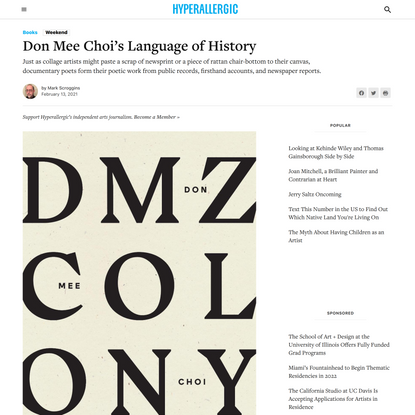 Don Mee Choi's Language of History