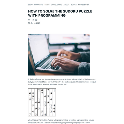How to Solve the Sudoku Puzzle with programming • Hillel Wayne