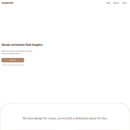 Suupcover – Welcome Page