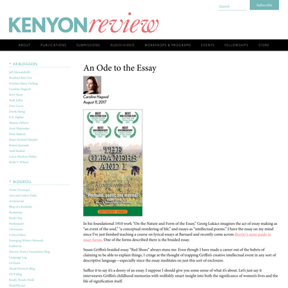 An Ode to the Essay « Kenyon Review Blog