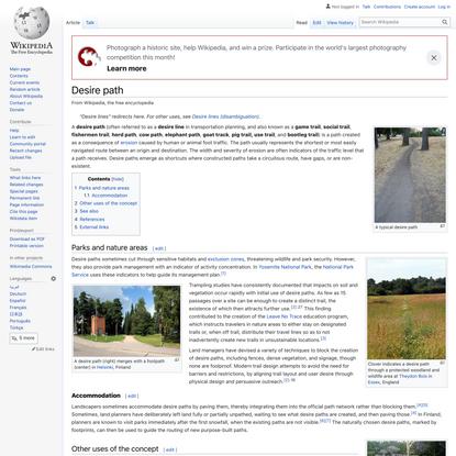 Desire path - Wikipedia