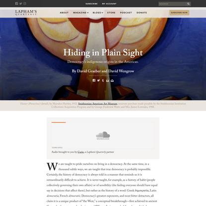 Hiding in Plain Sight | Lapham's Quarterly