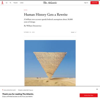 Human History Gets a Rewrite