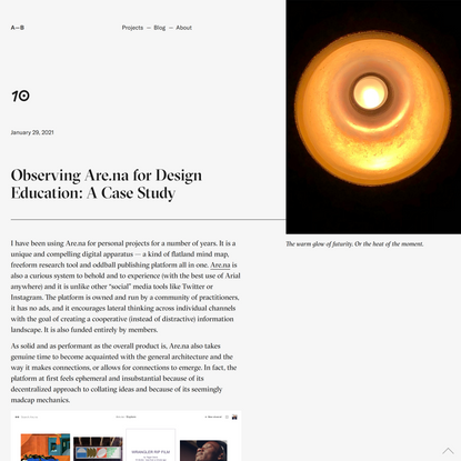10 Arena Visual Research Design Education | Andrew Boardman
