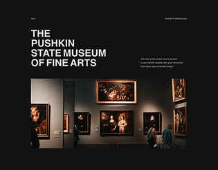 Museum website concept