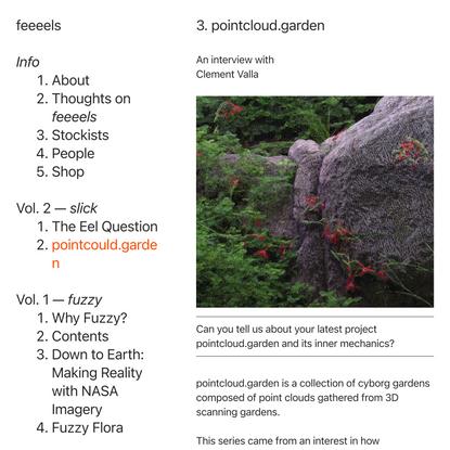 pointcloud.garden — feeeels magazine
