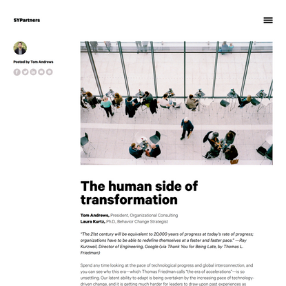 The human side of transformation - SYPartners