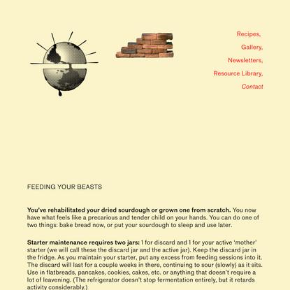 Feeding Your Beasts — Bread on Earth