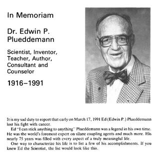 """Dr. Edwin Plueddemann – """"Dr. Glue"""""""