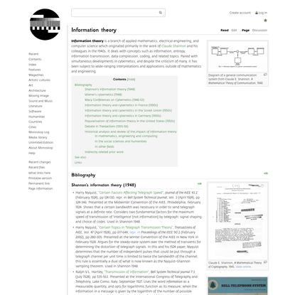 Information theory - Monoskop