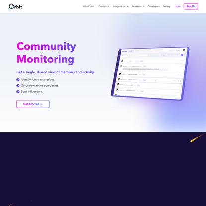 Community Monitoring - Orbit