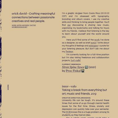 erick david—graphic designer