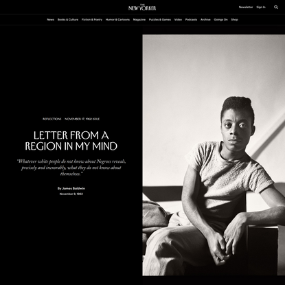 James Baldwin: Letter from a Region in My Mind