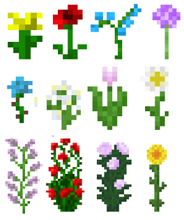 Minecraft Flowers