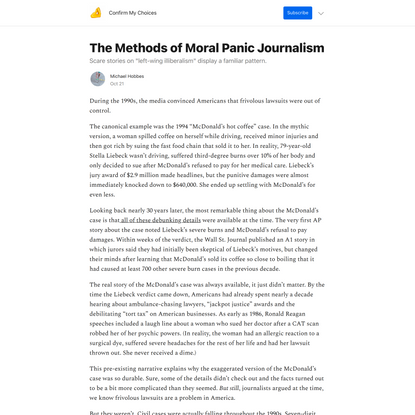 The Methods of Moral Panic Journalism