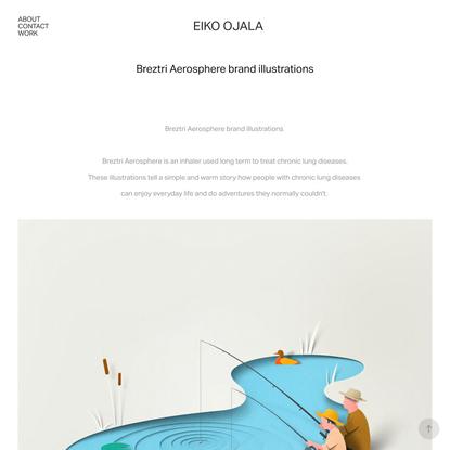 Eiko Ojala - Breztri Aerosphere brand illustrations