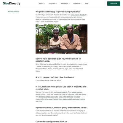 About GiveDirectly | GiveDirectly