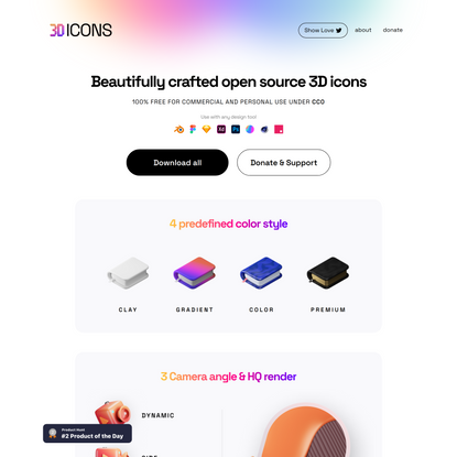 3dicons - Open source 3D icon library
