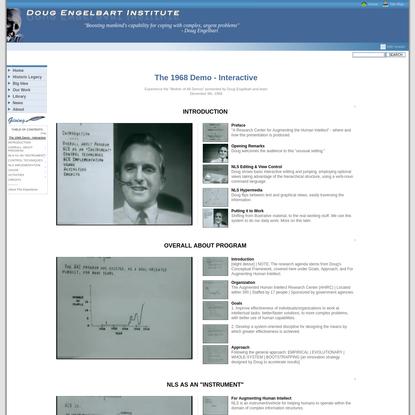 1968 Demo Interactive - Doug Engelbart Institute