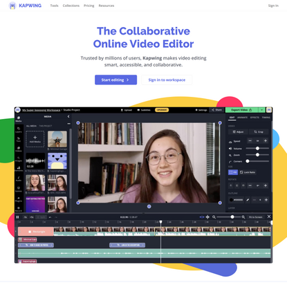 Kapwing: The Collaborative Online Video Editor
