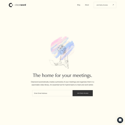 Clearword, get more from meetings.