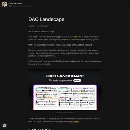 DAO Landscape — Mirror