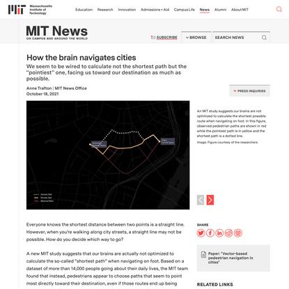 How the brain navigates cities