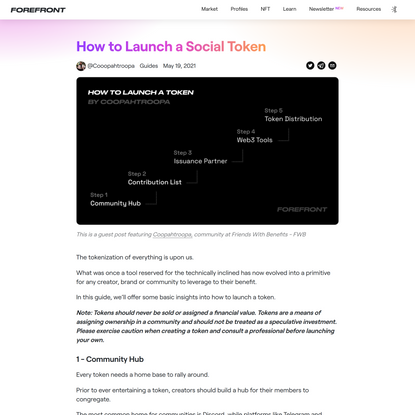 How to Launch a Social Token