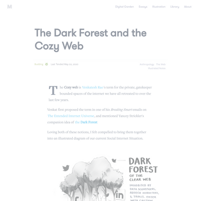 The Dark Forest and the Cozy Web