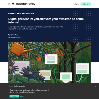Digital gardens let you cultivate your own little bit of the internet