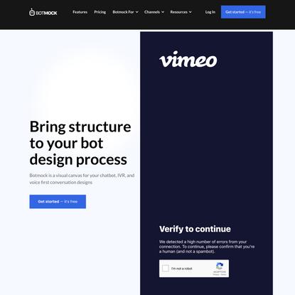 Botmock - Conversation Design and Prototyping