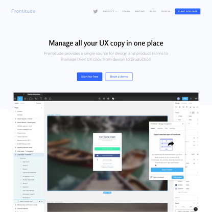 Frontitude | Manage all your UX copy in one place