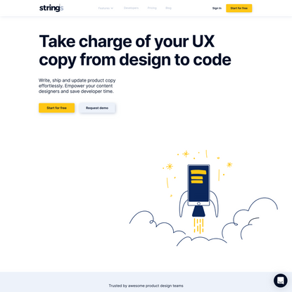 End-to-end product copy management | Strings.Design