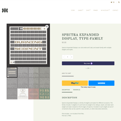 Spectra Expanded Display, Type-Family – Spectra Foundry
