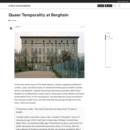 Queer Temporality at Berghain