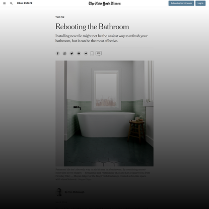 Rebooting the Bathroom (Published 2019)