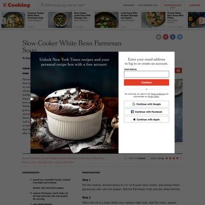 Slow-Cooker White Bean Parmesan Soup Recipe