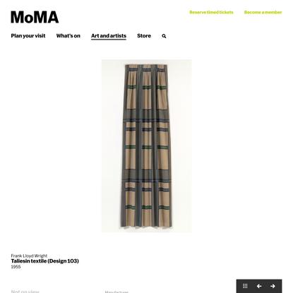 Frank Lloyd Wright. Taliesin textile (Design 103). 1955   MoMA