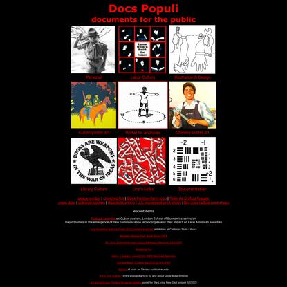 Docs Populi - documents for the public