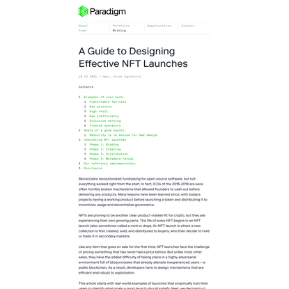 A Guide to Designing Effective NFT Launches
