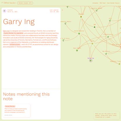 Garry Ing 🌱 Digital Garden