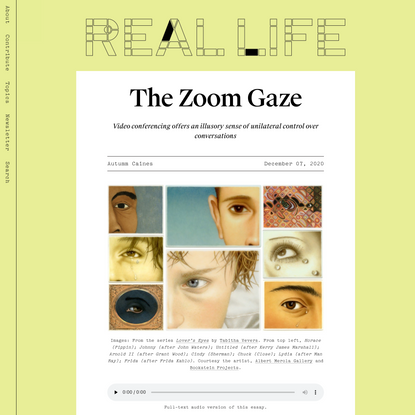 The Zoom Gaze — Real Life