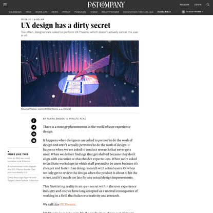 UX design has a dirty secret