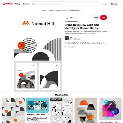 Brand New: New Logo and Identity for Nomad Hill by Andrew Littmann... - a grouped images picture - Pin… | Identity design lo...